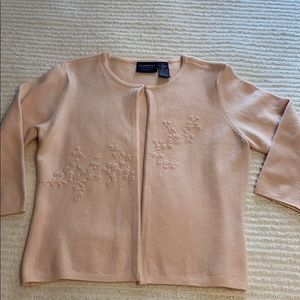 Darling baby pink embroidered cardigan